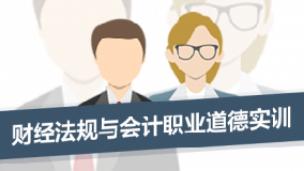 财经法规与会计职业道德实训